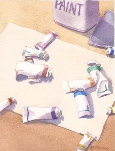 "Resolve, watercolor, 7"" x 5"""