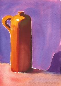 Earthenware Jug, watercolor, 7