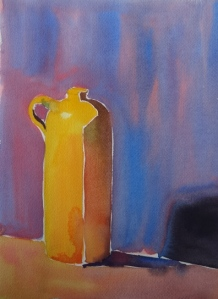 Earthenware Jug #1, watercolor, 12