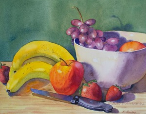 "Fruit Salad, watercolor, 8"" x 10"""