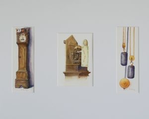 Grandfather Clock, watercolor