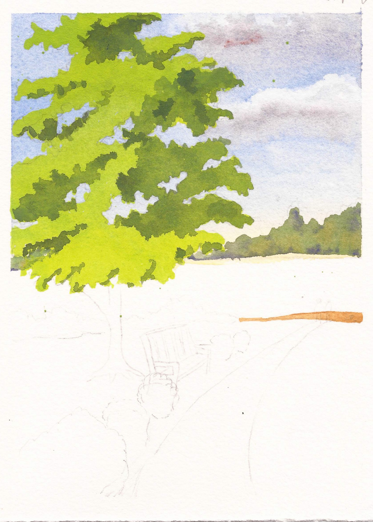 Painting A Tree in Watercolor – Ruth Bailey, artist