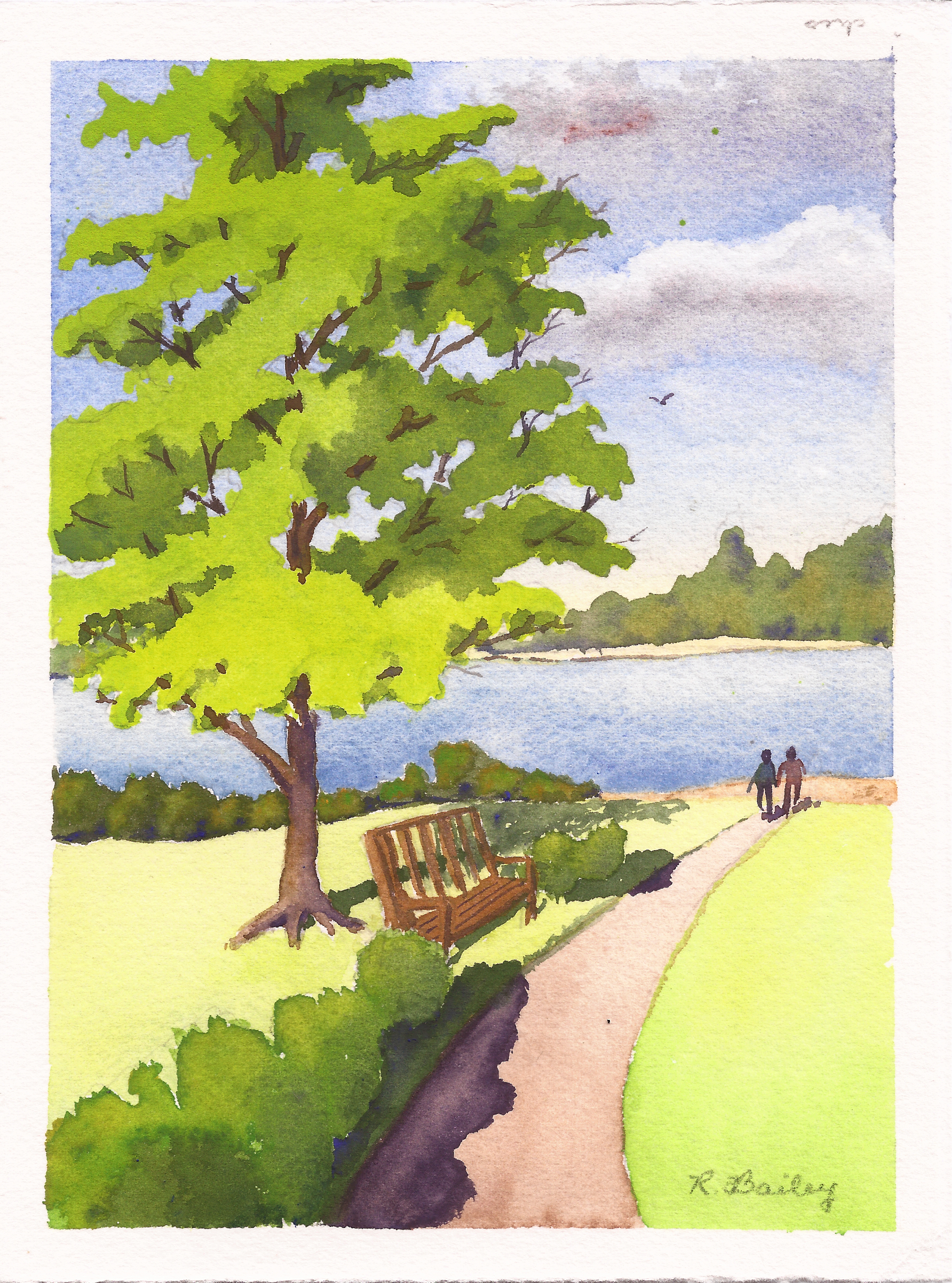Painting a tree in watercolor ruth bailey artist for How to paint a tree