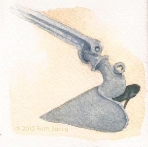 Plow Anchor, watercolor, 3