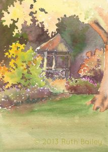 London Town Gazebo, watercolor, 5
