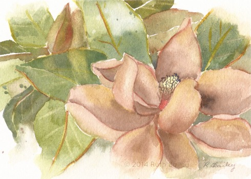 "Faded Glory, watercolor, 5"" x 7"""