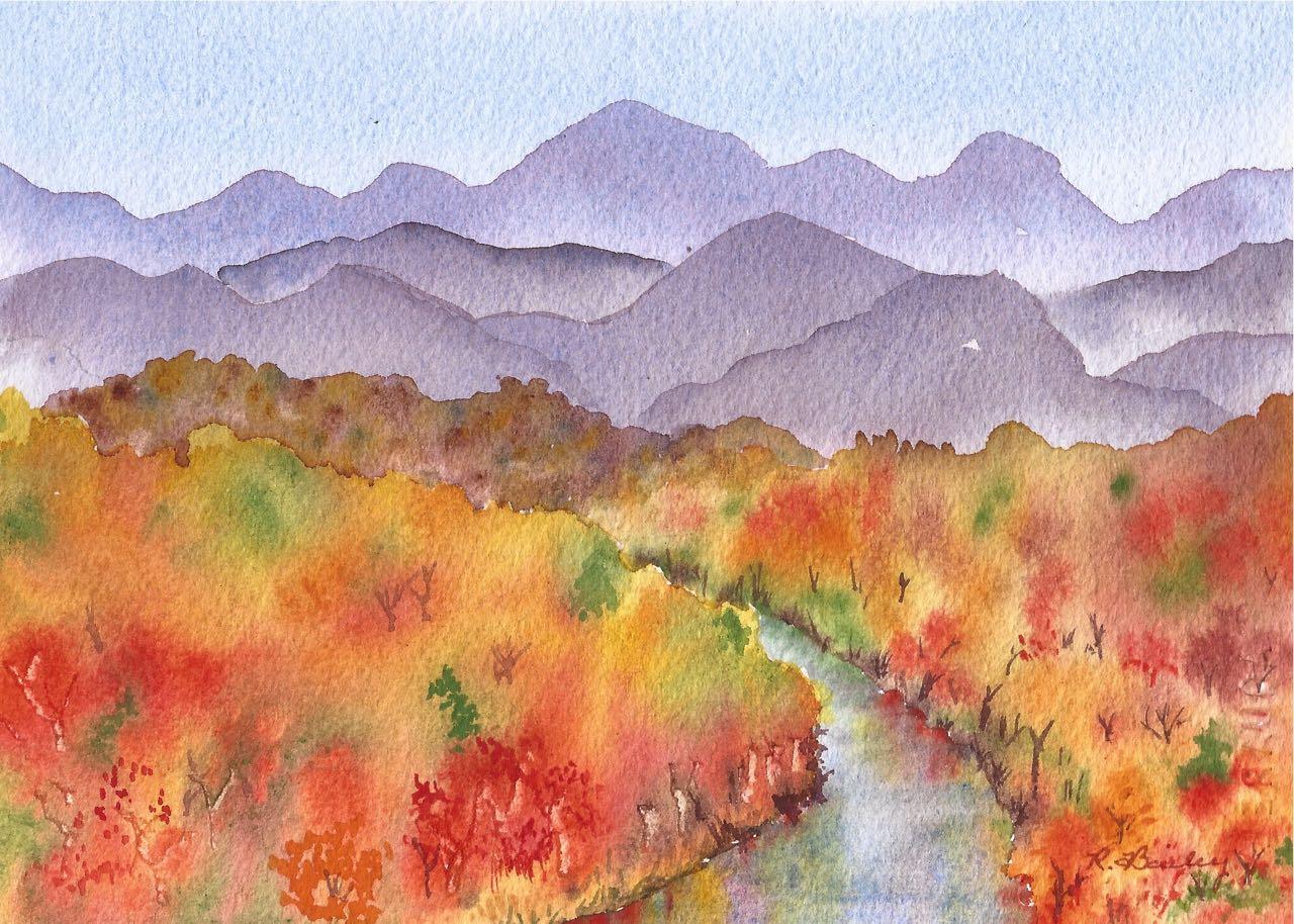 autumn trees – Ruth Bailey, artist