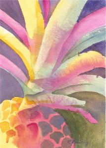 "Tropical!, watercolor, 5"" x 7"""