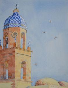"""Mercato Publico (Rota, Spain), watercolor, 10"""" x 8"""""""